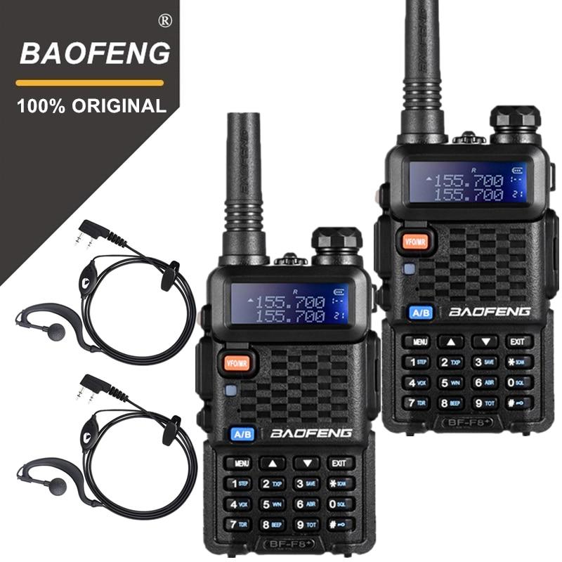 2 pcs D'origine BaoFeng F8 + Longue Distance Woki Toki Police Walkie Talkie 5 km Portée Radio Bidirectionnelle Walky walkie Ham Radio HF Récepteur