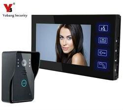 YobangSecurity проводной 7 дюймовый монитор видео дверной звонок Дверной телефон видеодомофон безопасность ночное видение 1 камера 1 монитор сист...