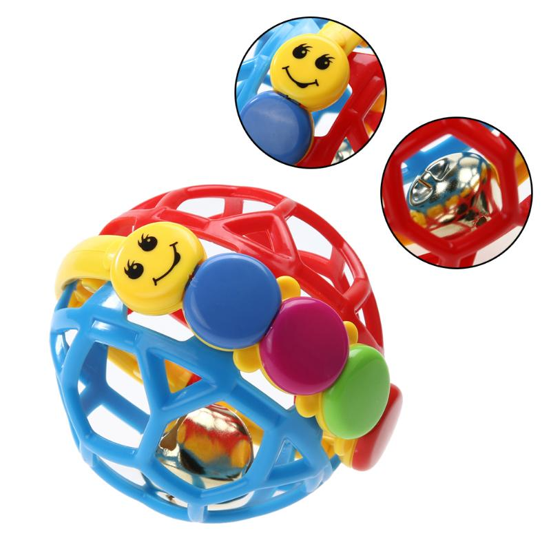 Colored Baby Einstein Buzz Ball Intelligence Development Hand Rattle Baby Bendy Ball Toy Plastic Fun Activity Educational Toy