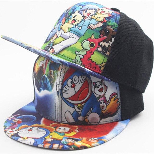 de5928a66defbe Children Boy Cartoon Baseball Hat Pokemon Pikachu Doraemon Sunscreen  Adjustable Baseball Caps For Kids Four Seasons Applicable