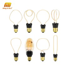 LED Bulb Novelty Unique Vintage Edison Light E27 220V Soft LED Filament Lamp 4W Decoration Spiral Design Retro Bulb Warm Yellow(China)