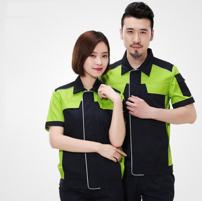 Set of Coat+Pants short sleeve summer autumn work coat uniform office uniform engineer coat car service uniform men out of uniform