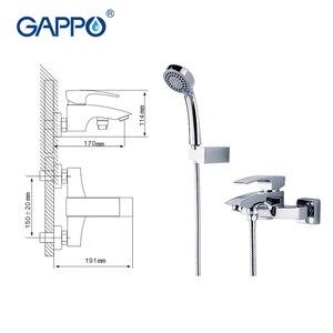 Image 3 - GAPPO yağmur biçimli duş musluklar banyo duvara monte banyo duş musluk banyo duş seti duş su mikser