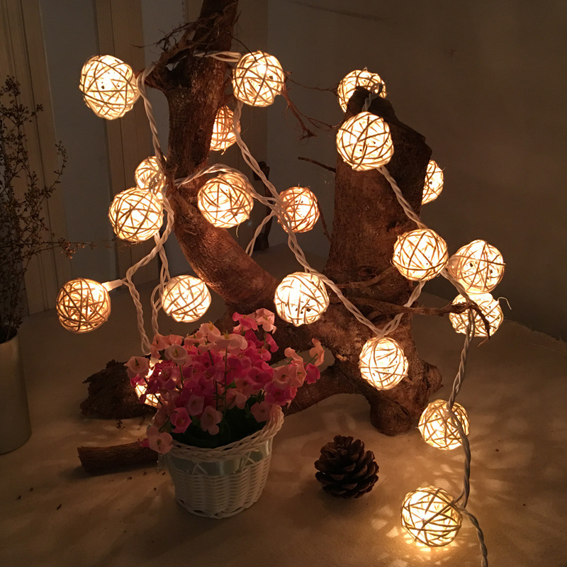 Christmas Tree Indoor Lights: New 3.5M 20 Fairy Garland LED Ball String Lights For