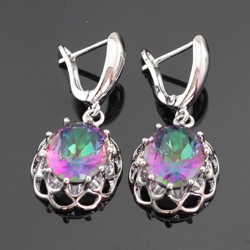 Ogromni višebojni dugi kubni cirkonij srebrne boje nakit setovi za - Modni nakit - Foto 5