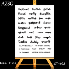 AZSG Appellation of Family Members Clear Stamps/Seals For DIY Scrapbooking/Card Making/Album Decorative Silicone Stamp Crafts