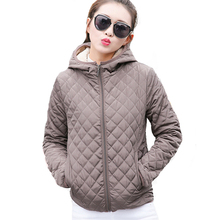 Autumn 2017 Parkas Basic Jackets Female Women Winter Plus Velvet Lamb Hooded Coats Cotton Winter Jacket Womens Outwear coat