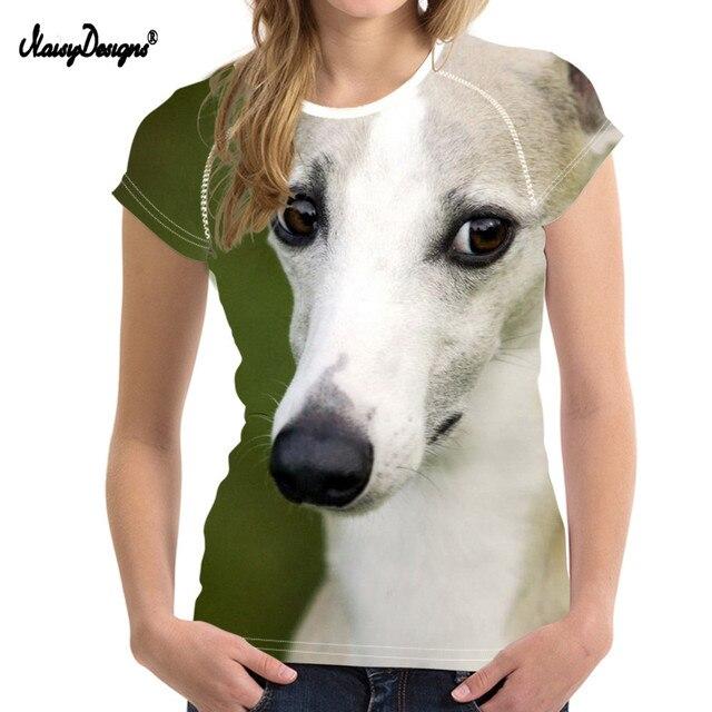 NoisyDesigns מצחיק קיץ אישה עיצוב חולצה חמוד ויפט כלב הדפסת בנות חולצות בגדי טריקו קצר בסגנון קוריאני Harajuku