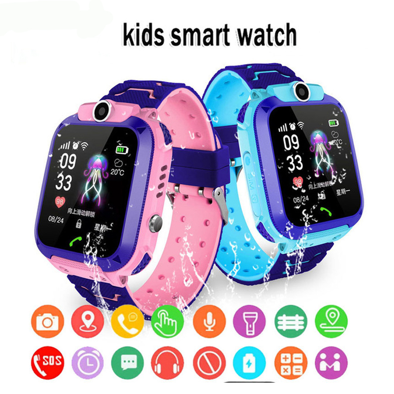 Kids Smart Watch SOS Antil-lost Smartwatch Children's Baby Watches Support 2G SIM Card Clock Call Location Tracker Wristband
