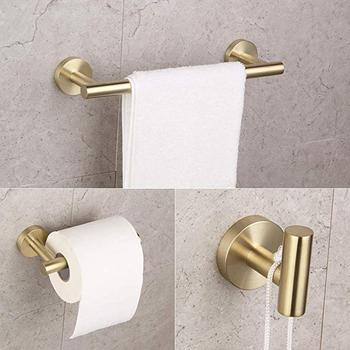 Łazienka szczotkowanego PVD złota cyrkonu 18 #8222 wieszak na ręczniki ręcznik Bar SUS304 ze stali nierdzewnej toaleta wieszak na ręczniki wieszak na ręczniki Hotel w stylu półka na ręczniki do montażu na ścianie tanie i dobre opinie Nolimas Metal STAINLESS STEEL Zestawy sprzętu do kąpieli M10 Black