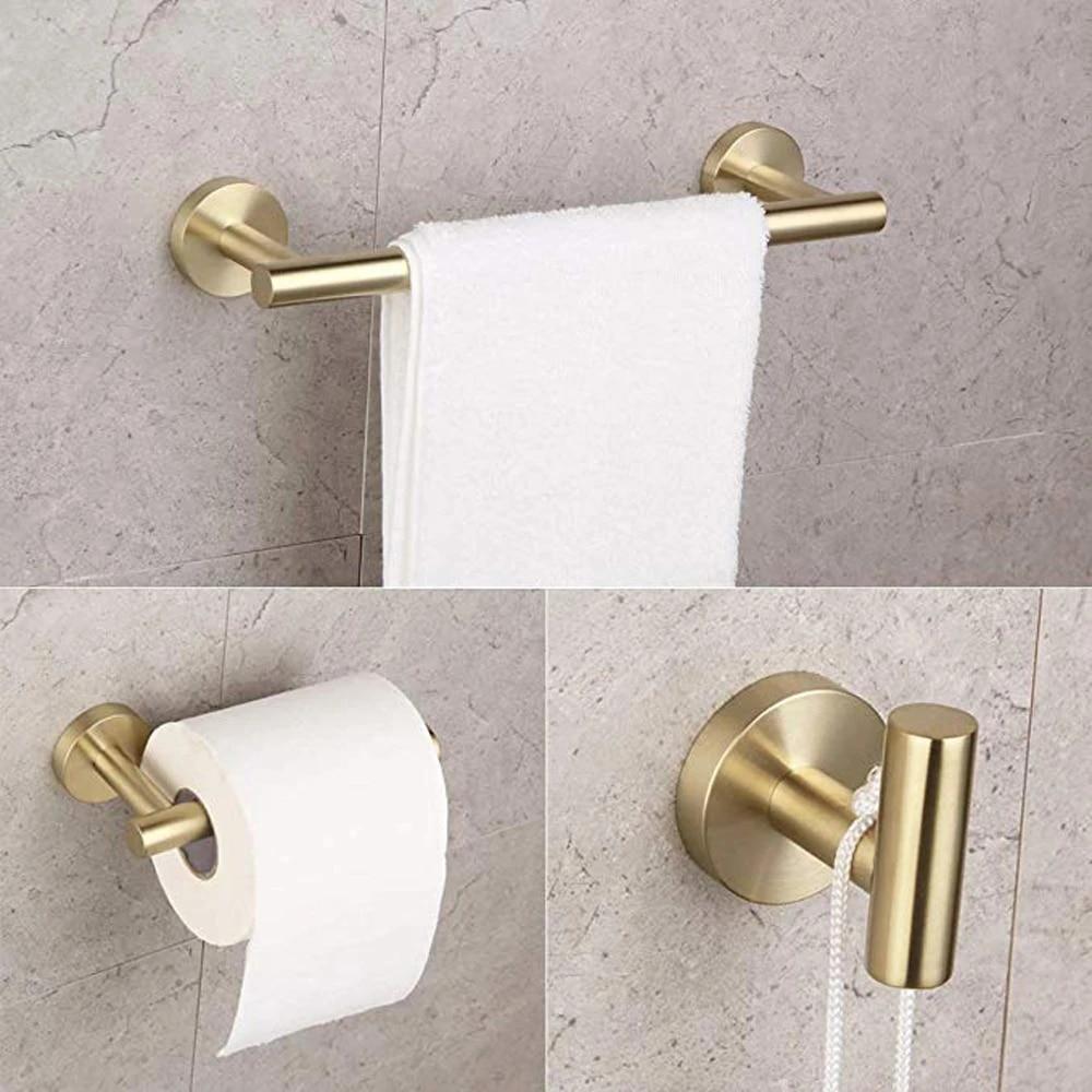bathroom brushed pvd zirconium gold 12 towel bar sus304 stainless steel towel rack hotel style towel shelf wall mount kwanicas