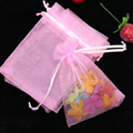 Wholesale 200pcs/lot,Drawable Pink Large Organza Bags 15x20 cm, Favor Wedding Gift Packing Bags,Packaging Jewelry Pouches