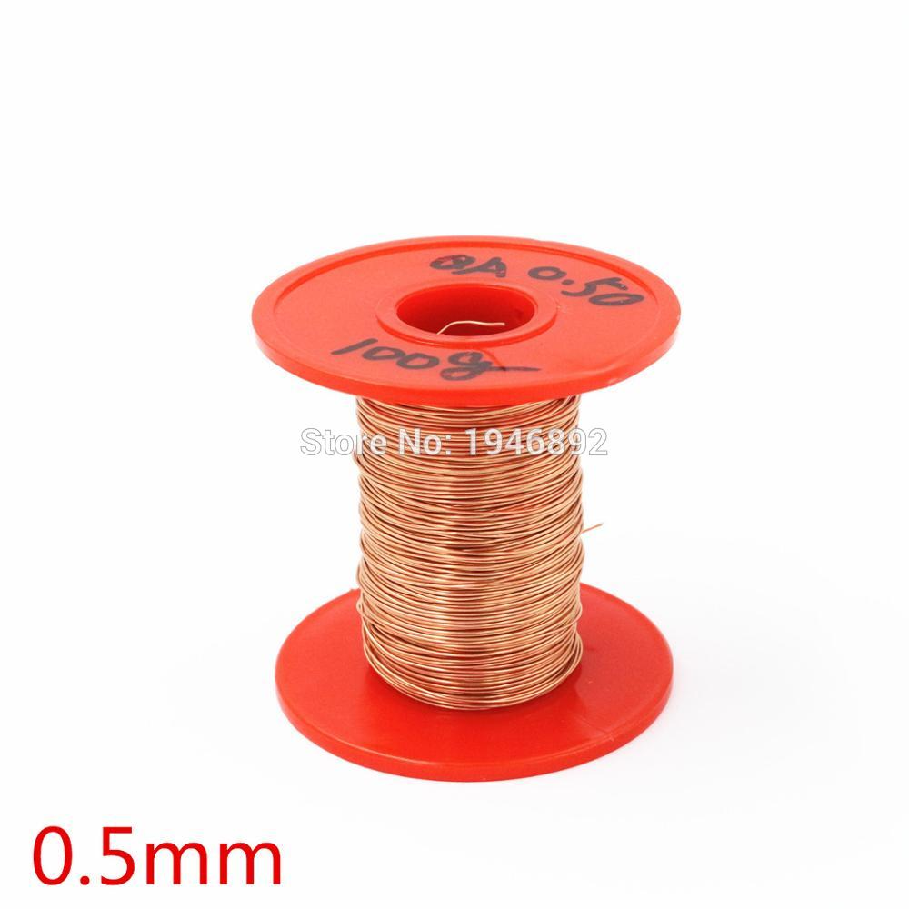 New Arrivals 0.5mm 100g/pcs QA-1-155 Copper Wire/Red Enameled copper wire Straight Welding,Free Scraping Paint free shipping 24v dc mig welding wire feeder motor single drive 1pcs