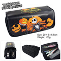 The Nightmare Before Christmas Jack cartoon movie pumpkin skull double bag zipper bag purse with large capacity