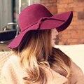 Summer Style Fashion Fedoras Vintage Pure Women's Beach Sun Hat Female Waves Large Brim Sunbonnet Casual Lady Travel Hats 3104