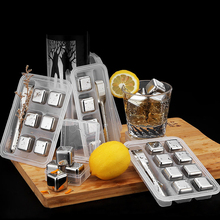 Stainless Steel Vodka Whiskey Stone Drink Wine Whisky Beer Cooler Ice Cubes Bucket Bar KTV Party Gift Tool Stones for Whiskey whiskey whisky
