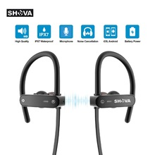 Купить с кэшбэком SHAVA  bluetooth headphones IPX7 waterproof wireless headset sports bass bluetooth earphone with mic for iPhone xiaomi V4.2