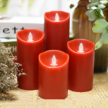 Battery operated flameless red candle with swing wick dancing flame,Religious Activities led wax candle,Halloween led candle