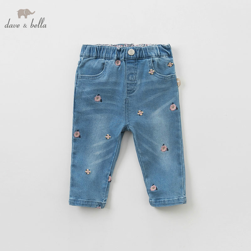 DBM9484 dave bella spring baby girls pants children full length kids solid pants infant toddler trousers-in Pants from Mother & Kids on AliExpress - 11.11_Double 11_Singles' Day 1