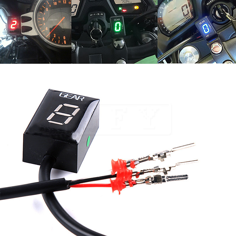 Motorcycle LCD Electronics 6 Speed 1 6 Level Gear Indicator Digital Gear Meter For Honda CBR600RR