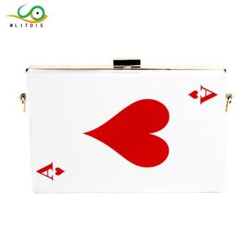 MLITDIS Women Brand Letter Print Box Clutch Mini Hardcase Metal Clutches Evening Shoulder Bag Chain Party Dinner Handbag Small