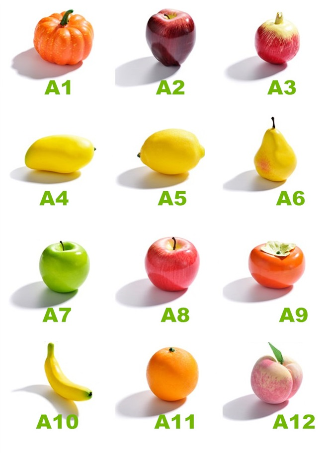 1 Pcs Mix Decorative Artificial Fruit Apple Pear Orange Fruits Fake Kids Cognitive Teaching Aids Fruit EVA Plastic Shop Display