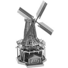 Dutch Windmill Fun 3d Metal Diy Miniature Model Kits Puzzle Toys Children Educational Boy Splicing Science Hobby Building