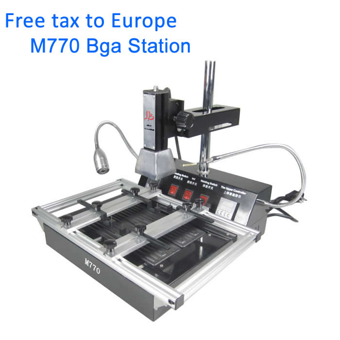 NO TAX TO EU! Cheapest Infrared Reballing machine M770 Infrared BGA Rework Station puhui t862 irda infrared bga rework station bga smd desoldering rework station free tax to eu