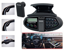 Car Steering Wheel Car Kit with Bluetooth Headset, Phonebook, MP3 Player and FM Radio (Black)