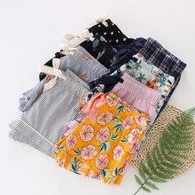 Женские штаны для сна, летняя хлопковая тонкая Пижама, женские штаны для сна, свободные шорты