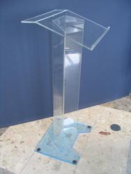 Jasne krawędzi. Akrylowe podium ambona mównica  dobrze polerowane akrylowe mównica podium akrylowe pleksi na