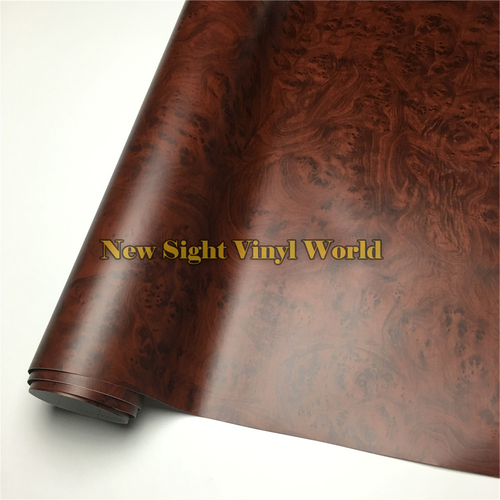 Birds Eye Wood Grain Vinyl Film Wood Vinyl Wrap PVC For Macbook Furniture Car Interier Size:1.24X50m/Roll(4ft X 165ft)