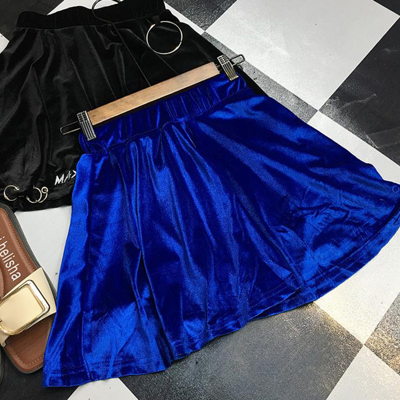 HTB1MA0hSXXXXXX8XpXXq6xXFXXXk - summer high waist velvet trendy woman mini skirt PTC 187
