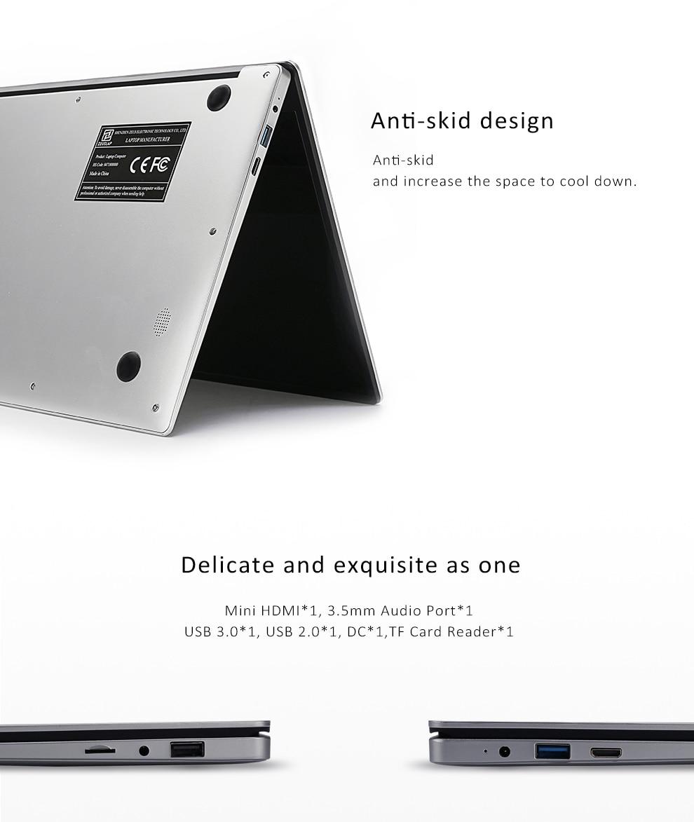15.6inch 6GB Ram 256GB SSD Ultrathin Intel Apollo Lake Quad Core CPU 1920X1080P Full HD IPS Screen Laptop Netbook Computer