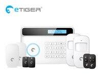 2017 הנחה גדולה Etiger S4 חכם מעורר בית מערכת אזעקת GSM PSTN מערכת אזעקת אבטחה עם תפריט עשר שפה
