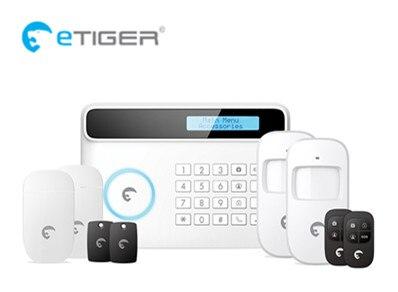 2017 Big discount Etiger PSTN GSM Alarm system Home Smart Alarm S4 Security Alarm System with Ten Language menu