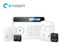 Chuango Similar Alarm dual network DIY Etiger S4 GSM Alarm system Home Burglar Alarm Kit