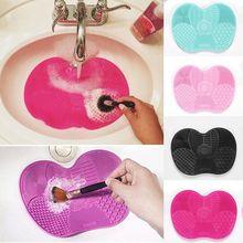Силиконовая щетка для макияжа, чистящая подушечка, матовая кисть, моющие инструменты, косметические кисти для бровей, очиститель, инструмент мочалка, доска для чистки макияжа