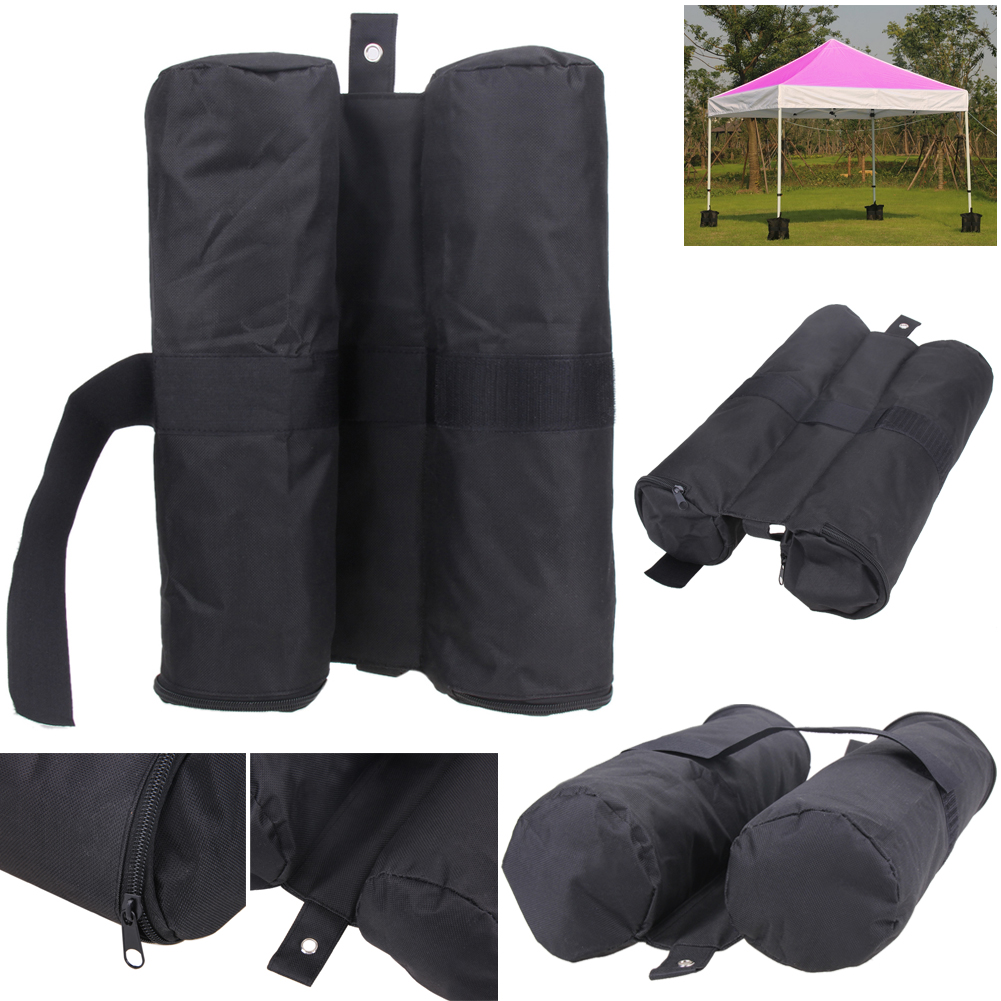 4pcs Portable Outdoor Camping Windproof Marquee Canopy Pavilion Tent Sandbag Marquee Stand Weight Sand Anchor SandBag esspero canopy