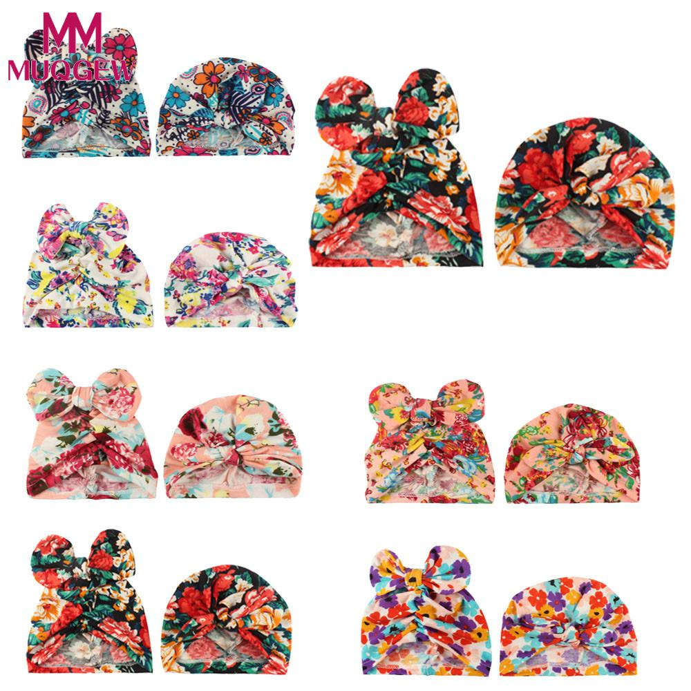 35eacdfed65 Detail Feedback Questions about MUQGEW Baby girls boys hat caps roupa de  bebe 2PC Baby Print Rabbit Bow Hat Girl Boy Cap Children Hats Toddler Kids  Hat on ...