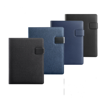A4 PU Leather Padfolio MultiFunction Notepad File Folder Document bag with Calculator Writing Pad Notepad Conference folder