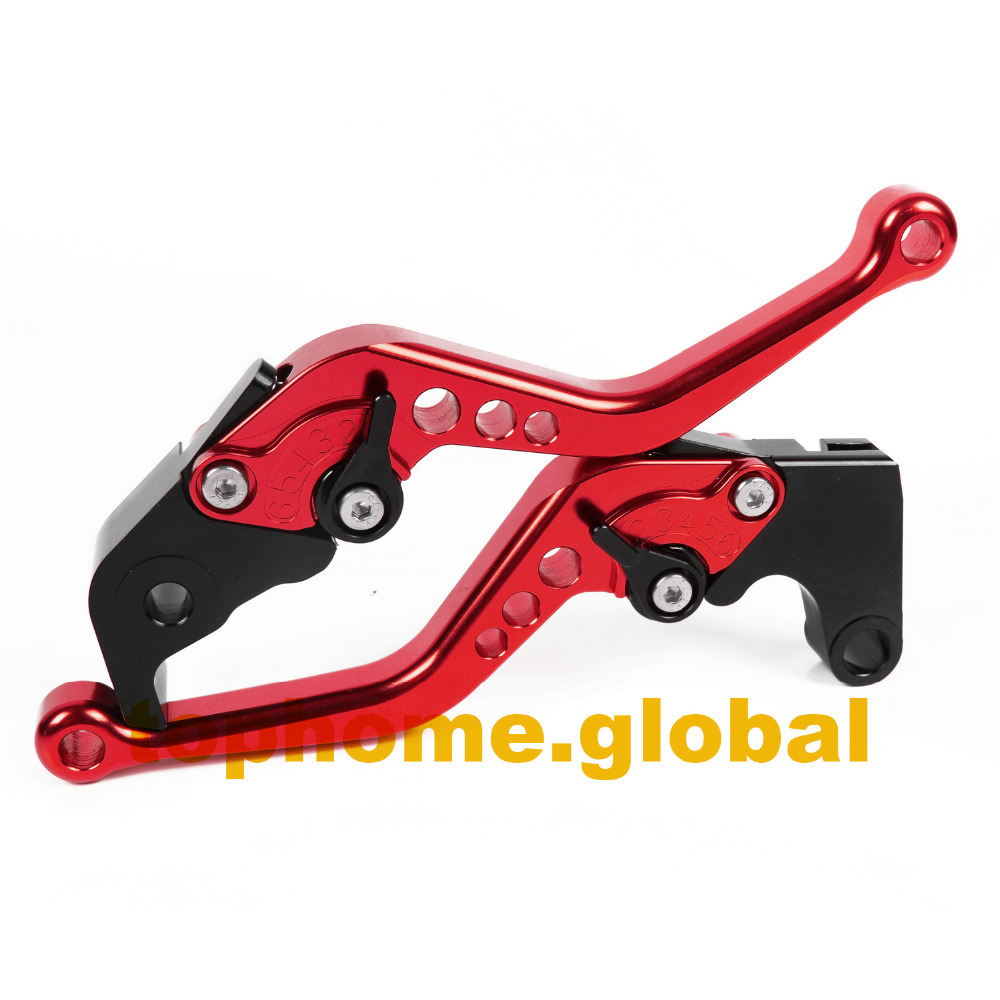 For Yamaha R3 2014 - 2017 / R25 2015  RED Short CNC Clutch Brake Levers Adjustable Pair yamaha dbr15