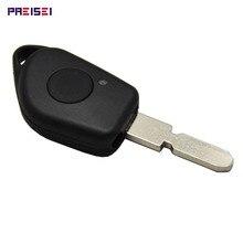 PREISEI пустые ключи для автомобиля peugeot 406 чехол для дистанционного ключа брелок сменный корпус без логотипа с зажимом для батареи