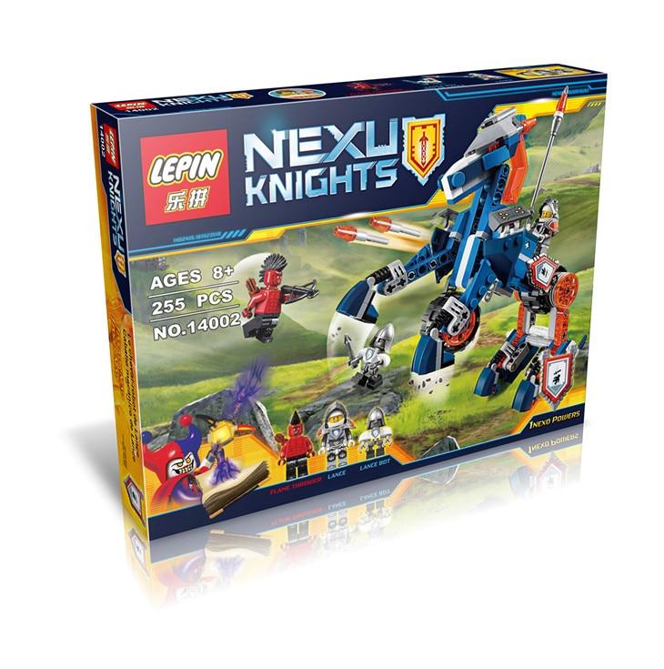 lepin 255pcs 14002 Nexus Knights Lance s Mecha Horse Jestro Lance bricks model building blocks figures
