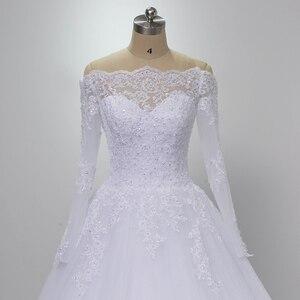Image 3 - Wuzhiyi Vestidos De Novia Tay Dài Chất Lượng Áo Dây De Mariee Bóng Phát Triển 2019 Casamento Ren Áo Cưới Plus Kích Thước Trouwjurk