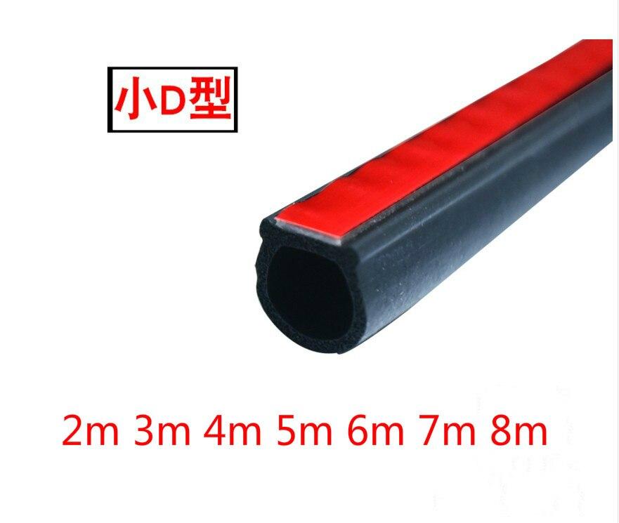 Car Door Weatherstrip 2~8 Meter Waterproof Small D Car Rubber Strip Seal Epdm 3m Car Door Seal Auto Rubber Door Insulation
