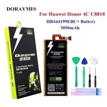 DORAYMI HB444199EBC + teléfono de la batería 3050mAh para Huawei Honor 4C C8818 CHM-CL00 CHM-TL00H chm-u01 G jugar Mini reemplazo de batería