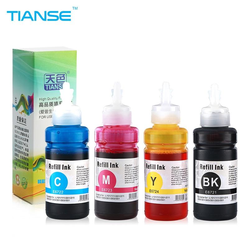 TIANSE refill dye ink kit 70ml universal for Epson printer refillable ink cartridge L100 L110 L120