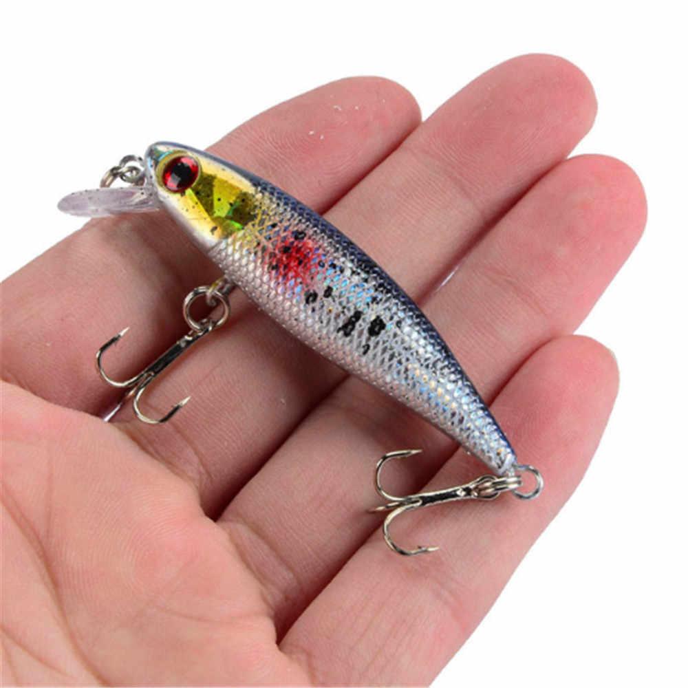 1 sztuk 6.5cm 4.5g Fishing Lure jakości Minnow Lure 3D oczy plastikowa twarda przynęta Pesca sztuczne Jig crankbait i woblery przynęta na ryby