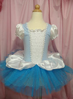 Wholesale New Summer Girl Dress White With Blue Ballet Tutu Dress Children Dance Party Dress 2